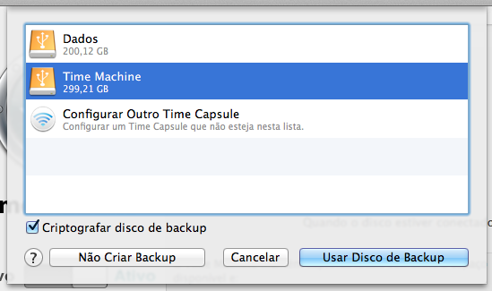 Time Machine Criptografado