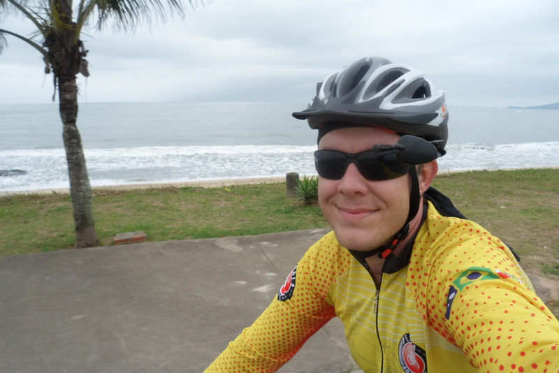 Pedalando nas praias de Itajaí