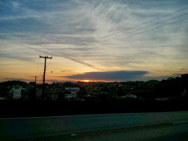 Alvorada em Joinville, o dia vai ficar quente