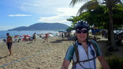 Chegada pedal praia de enseada