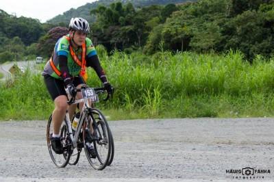 Audax Joinville 200km Março/2014 - Chegando no PC1