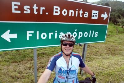 A camisa é do Audax Floripa, mas hoje o destino é a Estrada Bonita ;)