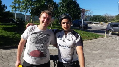 Marcelo Rodrigo e Ivan Rolin no Audax Floripa 300km 2014