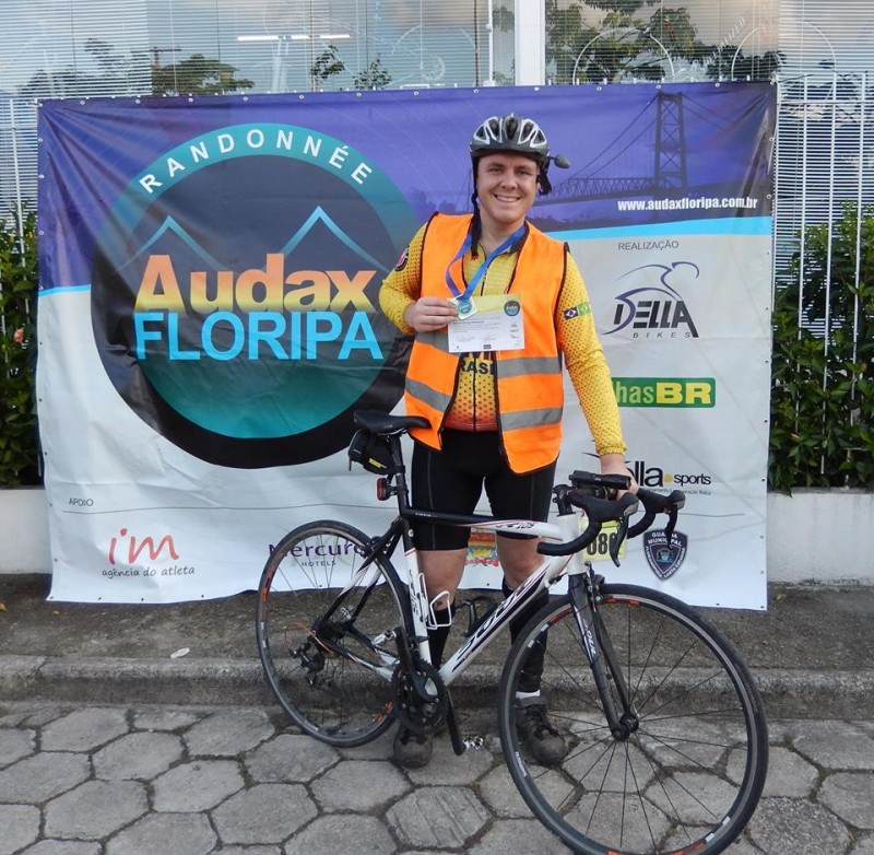 Chegada Audax Floripa 400km - Foto: Gilberto Ciclista