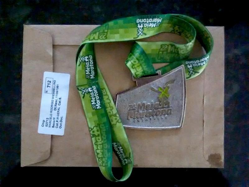 Medalha Meia Maratona de Joinville